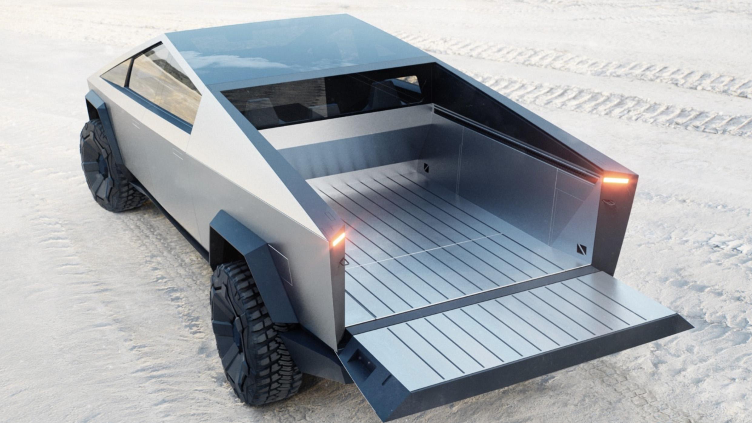 Tesla Cybertruck debuts, with 500-mile range